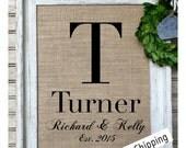 Rustic Wedding Gift | Wedding Wall Art | Personalized Burlap Print | Bridal Shower Gift | Barn Wedding | Farmhouse Decor | Country Living