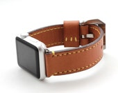 Baseball Glove TAN Leather Watch Strap for Apple Watch (Peronalization Available)