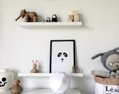SALE: Panda Bear Kids Poster / Minimalist Kids Room / Kids Decor / Toddler Room / Children Poster / Minimal Nursery / Black and White Poster