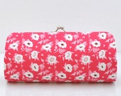 Blooms in Pink ..Small Clutch Purse - SM111
