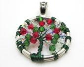 Christmas Tree of Life Pendant - Swarovski - Xmas