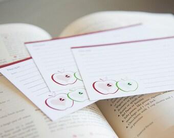 Apple Recipe Cards