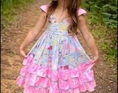 Periwinkle Blue Ruffled Dress