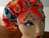 Rocky and Bullwinkle  Banded Bouffant Surgical Cap