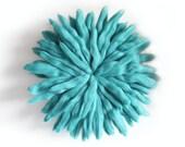 """18"""" Aqua Juju Hat // Wool Wall Art"""