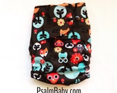 All in Two One Size Cloth Diaper Foxes and Owls