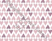 Pink Navy and Grey Triangle Heart 4 Way Stretch Jersey Knit Fabric, Club Fabrics, 1 Yard