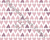 Pink Navy and Grey Triangle Heart 4 Way Stretch Jersey Knit Fabric, Club Fabrics