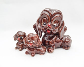 Vintage Ceramic Dog Family
