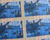 Boston Tea Party Full Sheet of 50 Vintage UNUsed US Postage Stamps 8c 1975 American Bicentennial Patriots Colonial Save the Date Republican