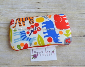 Primary Zoo Boutique Style Travel Baby Wipe Case