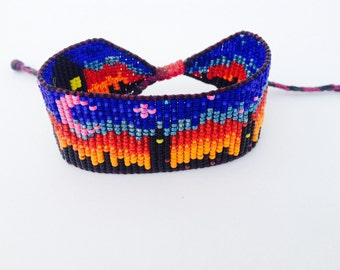 Nightlife City Scene Beaded Bracelet