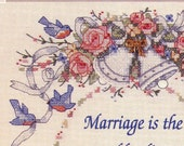 Dimensions Needlepoint Kit Cross Stitch Marriage Wedding certificate