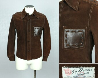 vintage SY DEVORE suede jacket • swinging 60s era RNR jacket
