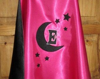 Childrens Magician Cape / Childrens Wizard Cape / Satin Cape / Kids Cape