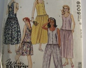 Easy to Sew Misses Jumpsuit and Sundress Sizes 8 10 12 UNCUT McCalls Pattern 6009 Vintage 1990s