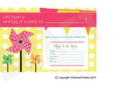 Pinwheel Invitation Pinwheel Invite Party Invitation Party Invite Birthday Invitation Girls Party invitation Summer Party Invite Printable