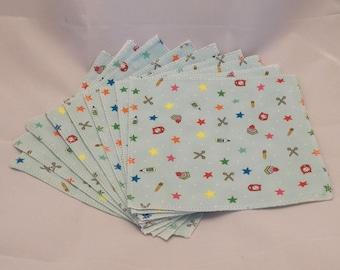 Cloth Wipes- School Supplies- Set of 9- 15012