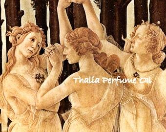 THALIA Perfume Oil - Raw Honeycomb, Peaches, Gardenia, Myrrh - Three Graces - Goddess Perfume