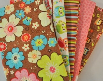 Happy Flappers 5 Fat Quarters Bundle for Riley Blake, 1 1/4 yards total