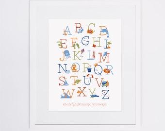 Alphabet Print | Underwater Theme