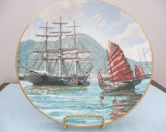Royal Doulton Collectors International 'Hong Kong' Plate by John Stobard