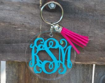 Personalized Tassel Keychain Acrylic