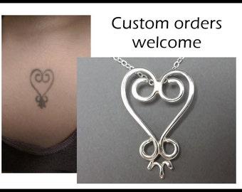 Custom Logo in Sterling Silver