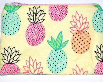 Pineapples Coin Purse Zipper Pouch Wallet Card Pouch Change Purse Gift Idea Pineapple