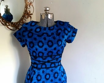 Vintage 1950's Mod Mad Men Dress Mod 1950s Pin up VLV