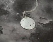 Silver Cassiopeia pendant with no chain