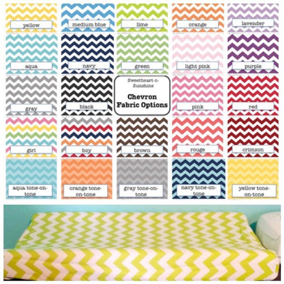 CLEARANCE- Chevron Contoured Changing Pad Cover- You Choose Color!