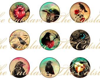 Crow Magnets, Crow Pins, Crows Ravens Pins, Magnet Gift Set, Pin Gift Set, Fridge Magnets, Raven Magnets, Raven Pins, Refrigerator Magnets