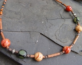 Reserved for Renee - Wood and Chimu Terra Cotta Necklace
