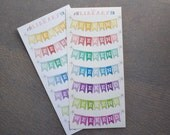 7 Multi-Coloured Weekend Banner Planner Stickers, Perfect for Erin Condren, Plum Paper