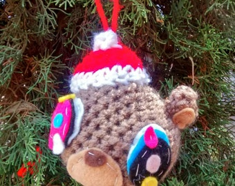 Crochet yeezy bear ornament