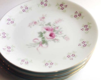 Shabby chic floral dishes