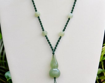 "AGATE with Silk Soutash Braided Necklace and Tassle 30"" w/o Tassel (+ 3.5 with)"