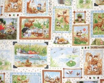 Suzzy's Zoo Cotton Fabric for Children Animal Fabric Hoffman Fabric