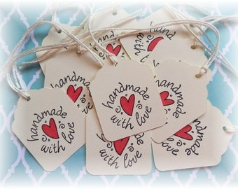 Handmade with Love - paper gift /hang tags (10)