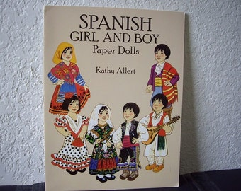 Spanish Girl and Boy Paper Doll booklet, Kathy Allert, uncut, 1993