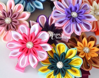 Kanzashi,hair accessories,hair clips,girl clips,girl hair clips,baby hair clips,hair clips for girls,flower hair clip,hair clip for girls.