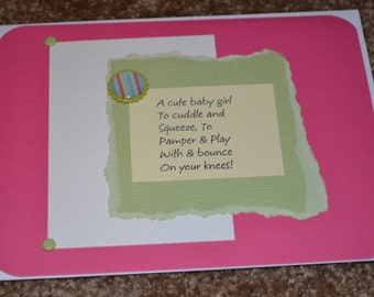 CUTE Set of Cards for Baby Girls!!!!!