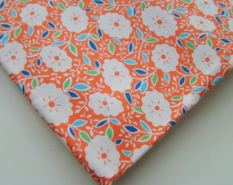 Katie Jump Rope Fabric by Denyse Schmidt for Free Spirit, Orange Floral, OOP, Rare, Fat Quarter