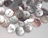 40 Pieces Vintage 5/8 Inch 15 mm MOP Buttons Shell Round Button - 2 Hole Abalone Buttons - Akoya Shell  Sewing Buttons