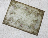 Miniature Dollhouse Rug French Garden in 1:12 Scale
