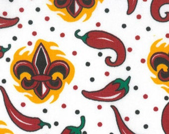 Chili Pepper and Fleur de Lis by Fabric Finders