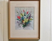 Vernon Ward Framed Print Bouquet of Spring Flowers Cottage Decor