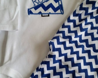University of Kentucky Chevron pants and onesie