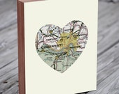 Cincinnati Art - Cincinnati Map - Cincinnati Print - Cincinnati Skyline - Wood Block Art Print